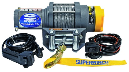 EL-WINCH, SUPERWINCH, 12V, TERRA 25, 1.0KW, WIRE 15,2MX4.8MM, DRAGKRAFT: 1134KG