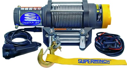 EL-WINCH, SUPERWINCH, 12V, TERRA 45, 1,2KW, WIRE 15,2MX6,5MM, DRAGKRAFT:2041KG